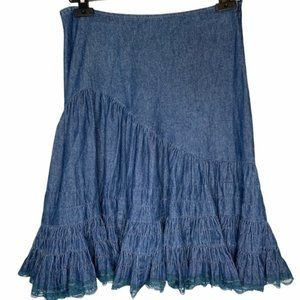 Vintage Christine Phillipe L'Image denim skirt